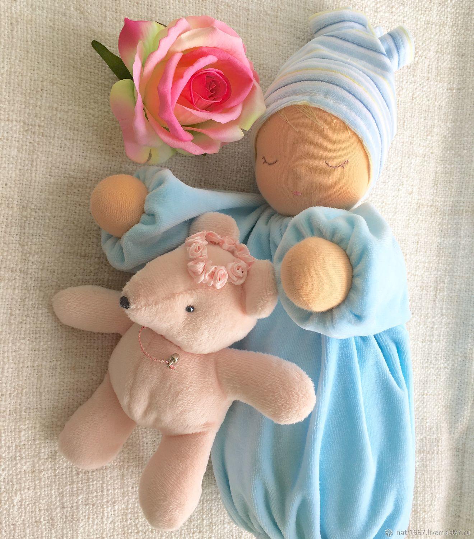 """Сплюшка """"Голубенькая капелька"""" - вальдорфская куколка, Вальдорфские куклы и звери, Самара,  Фото №1"""