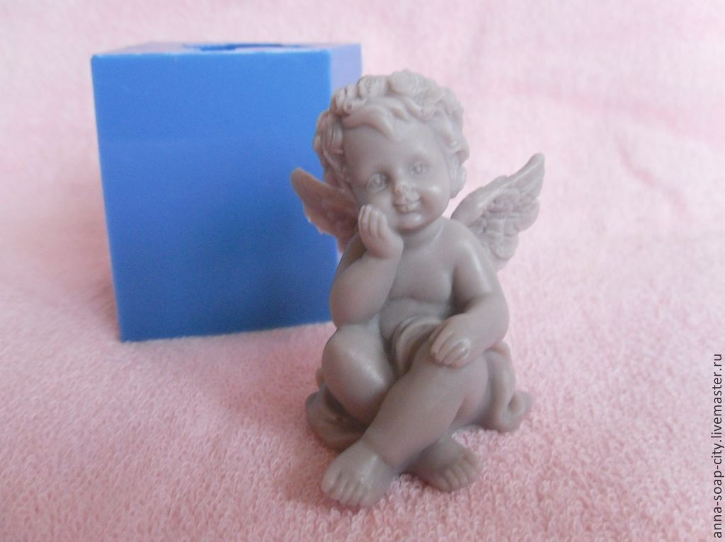 Silicone mold for soap and candles 'Pensive angel', Makeup tools, Arkhangelsk,  Фото №1