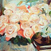 Картины и панно ручной работы. Ярмарка Мастеров - ручная работа Картина. Букет роз. Handmade.