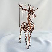 Для дома и интерьера ручной работы. Ярмарка Мастеров - ручная работа Олень - скульптура из меди. Handmade.