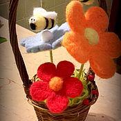 Для дома и интерьера ручной работы. Ярмарка Мастеров - ручная работа Корзиночка с пчелками. Handmade.