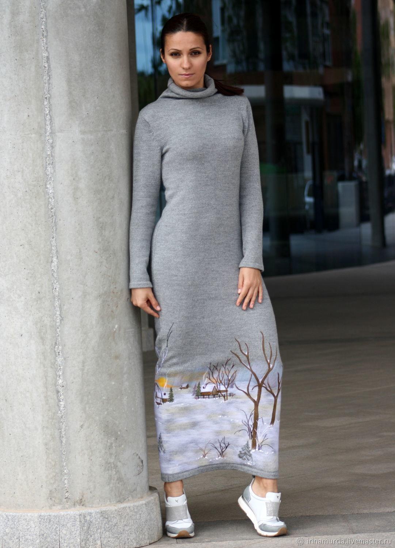 85aab7d2ab2 Платья ручной работы. Ярмарка Мастеров - ручная работа. Купить Вязаное шерстяное  платье в пол ...