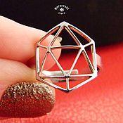 Rings handmade. Livemaster - original item Geometric ring Icosahedron. Handmade.