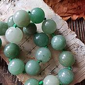 Бусины ручной работы. Ярмарка Мастеров - ручная работа Агат бусины Зеленый. Handmade.