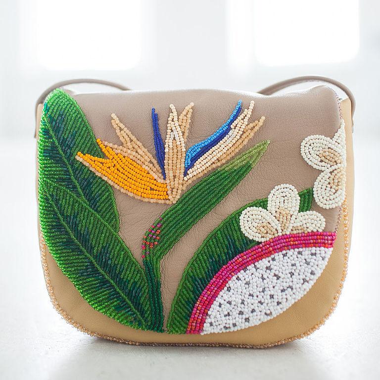 вышивка бисером сумки
