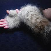 Аксессуары handmade. Livemaster - original item Woman`s knitted fingerless gloves Seven colors of Leo. Handmade.