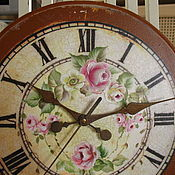 Для дома и интерьера ручной работы. Ярмарка Мастеров - ручная работа Настенные часы Roses (Роспись ). Handmade.