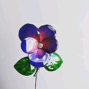 Украшения handmade. Livemaster - original item The brooch is needle violet with Swarovski crystal. Handmade.