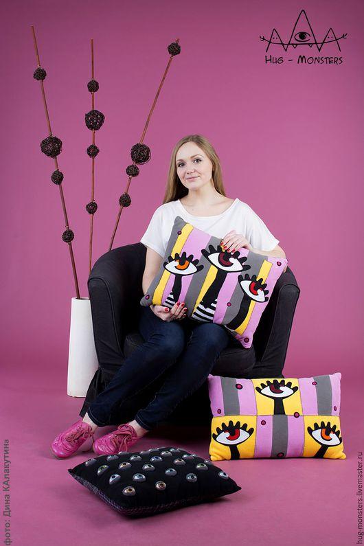 """Текстиль, ковры ручной работы. Ярмарка Мастеров - ручная работа. Купить Комплект подушек """"Созерцатели"""" 2 шт.. Handmade. Комбинированный"""