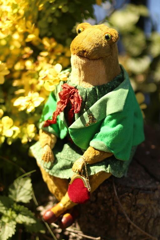Мишки Тедди ручной работы. Ярмарка Мастеров - ручная работа. Купить Тедди Лягушка 29 см сидя. Handmade.