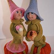 Куклы и игрушки ручной работы. Ярмарка Мастеров - ручная работа Гороховая семья. Handmade.