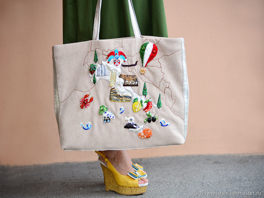 Tote bag with embroidery for women Italy, Tote Bag, Kursk,  Фото №1