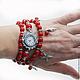 """Часы ручной работы. """"Красное море"""" - часы-браслет. Светлана Игнатьева (Sig-art). Ярмарка Мастеров. Часы с браслетами"""