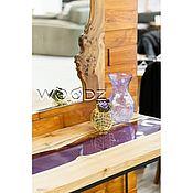 Столы ручной работы. Ярмарка Мастеров - ручная работа Консоль с рекой из Карагача. Handmade.