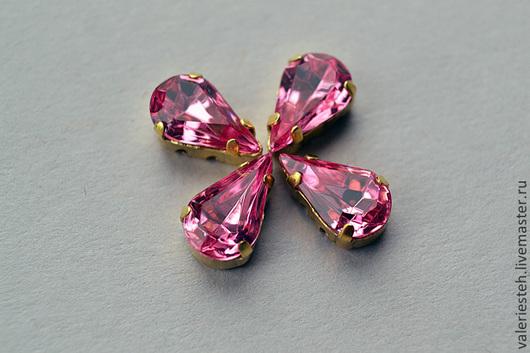 Для украшений ручной работы. Ярмарка Мастеров - ручная работа. Купить Винтажные кристаллы Swarovski 10х6 мм. цвет Rose. Handmade.