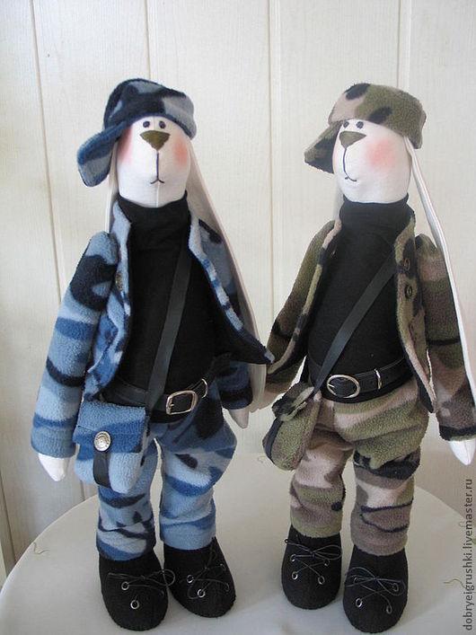 Куклы Тильды ручной работы. Ярмарка Мастеров - ручная работа. Купить Защитники Отечества. Handmade. Хаки, военная форма
