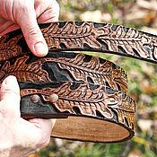 Аксессуары handmade. Livemaster - original item Leather belt handmade. Handmade.