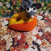 Мягкие игрушки ручной работы. Ярмарка Мастеров - ручная работа Мягкие игрушки: Игрушки: Мышь в сыре. Handmade.