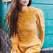Одежда handmade. Livemaster - original item Felted dress with sleeve