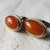 Винтаж handmade. Livemaster - original item Cufflinks - amber, silver. Handmade.
