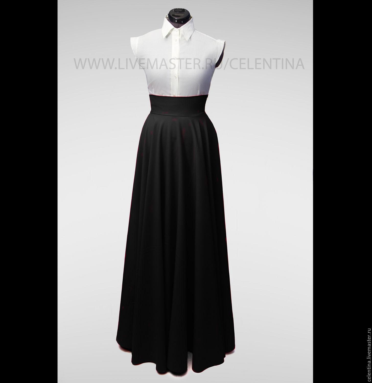 Длинная юбка солнце черная