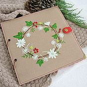 Канцелярские товары handmade. Livemaster - original item Photo album with embroidery