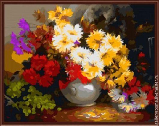 Другие виды рукоделия ручной работы. Ярмарка Мастеров - ручная работа. Купить Картина по номерам Букет (художник Антон Горцевич). Handmade.