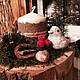 """Новый год 2017 ручной работы. Новогодняя композиция """"Зимний лес"""". Дизайн-мастерская EcoShiningHome (eco2014). Ярмарка Мастеров. Новогоднее украшение"""