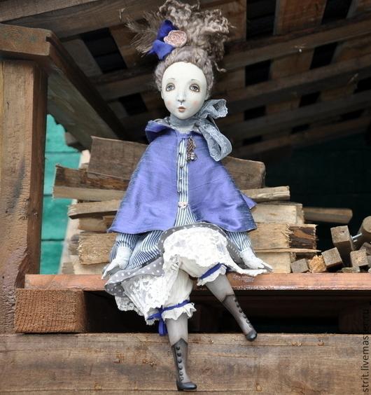 Коллекционные куклы ручной работы. Ярмарка Мастеров - ручная работа. Купить Ребекка - подвижная кукла.. Handmade. Фиолетовый, darwi roc