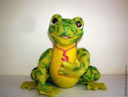 Игрушки животные, ручной работы. Ярмарка Мастеров - ручная работа. Купить Лягушка и Букашка на ромашке + Мачо. Handmade. жаба