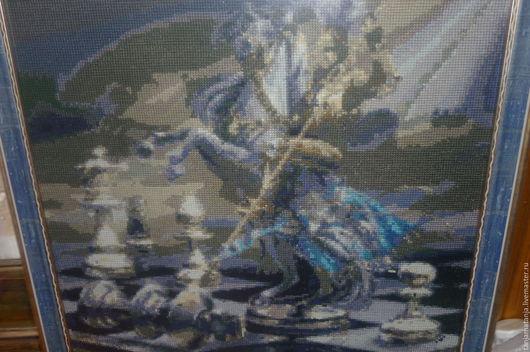Фантазийные сюжеты ручной работы. Ярмарка Мастеров - ручная работа. Купить шахматный рыцарь. Handmade. Картина для интерьера, картина и пано