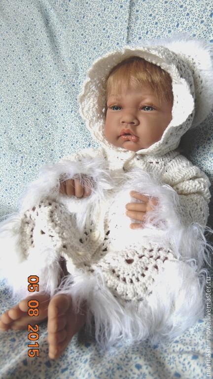 """Одежда для девочек, ручной работы. Ярмарка Мастеров - ручная работа. Купить Комплект для новорожденных вязаный """"Беляночка"""". Handmade. Белый"""