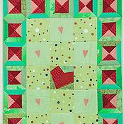 """Для дома и интерьера ручной работы. Ярмарка Мастеров - ручная работа Текстильное панно """"Я буду ждать тебя"""". Handmade."""