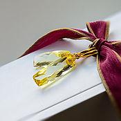 Украшения handmade. Livemaster - original item Earrings with long citrine in gold. Handmade.