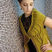 Одежда ручной работы. Ярмарка Мастеров - ручная работа Жилет удлиненный «Крэйси». Handmade.