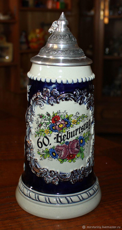 Collectible beer mug handmade, 0.8 l. King, Germany, Vintage mugs, Moscow,  Фото №1