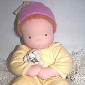 """Куклы и игрушки ручной работы. Ярмарка Мастеров - ручная работа """"Лимончик и дружок"""" вальдорфский младенец 50 см. Handmade."""