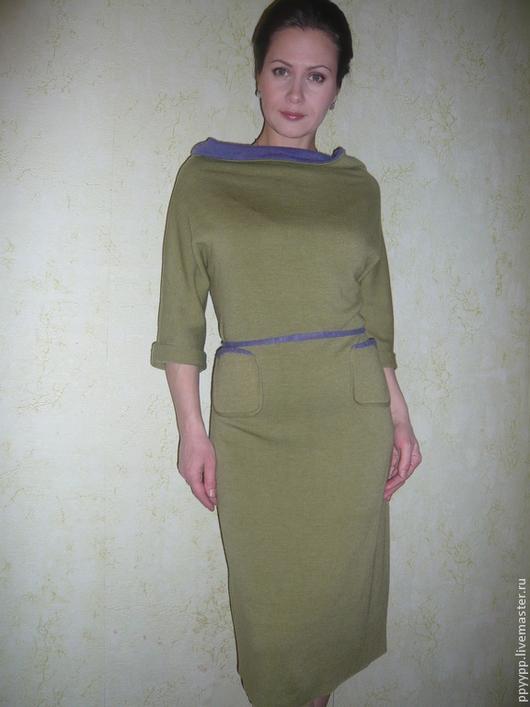 """Платья ручной работы. Ярмарка Мастеров - ручная работа. Купить Платье """" Яблоневый цвет"""". Handmade. Зеленый, облегающее платье"""