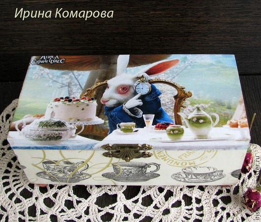 """Кухня ручной работы. Ярмарка Мастеров - ручная работа. Купить """"Чаепитие мартовского зайца"""", чайная шкатулка. Handmade. оригинальный подарок"""