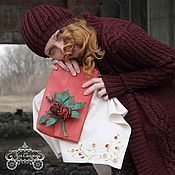 """Одежда ручной работы. Ярмарка Мастеров - ручная работа Образ """"... ждала с войны"""". Кардиган, платье, берет, клатч.. Handmade."""
