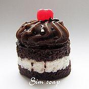 Косметика ручной работы. Ярмарка Мастеров - ручная работа Шоколадный бисквит - мыло ручной работы. Handmade.