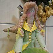 тильда  Хранительница ватных палочек функциональная кукла