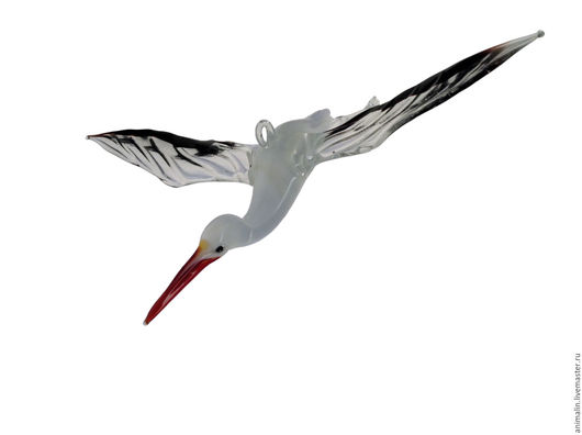Interior Items handmade. Livemaster - handmade. Buy Interior hanging decoration stained glass bird Stork Laime.Stork, family
