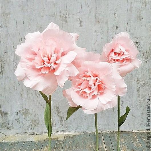 Свадебные цветы ручной работы. Ярмарка Мастеров - ручная работа. Купить Большой цветок на ножке. Handmade. Бумажные цветы
