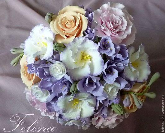 Цветам из полимерной глины не страшны ни жара ни мороз. Они выдержат все испытания свадебного торжества и будут долго радовать Вас и после праздника.