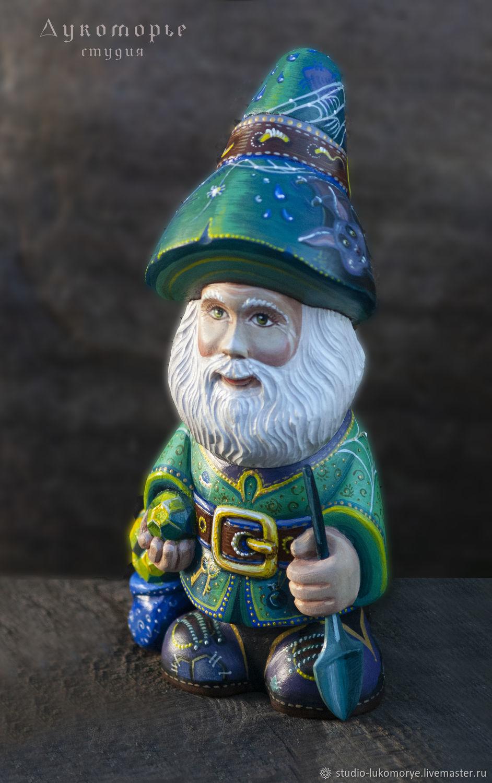 Emerald dwarf 'Isuma' (22,5 cm), Figurine, Serpukhov,  Фото №1