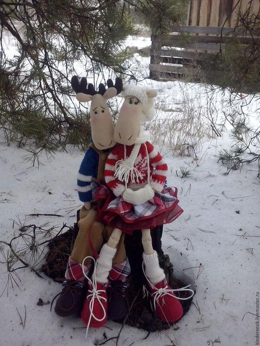 Куклы Тильды ручной работы. Ярмарка Мастеров - ручная работа. Купить зимнее настроение. Handmade. Тильда, текстильная игрушка, комбинированный
