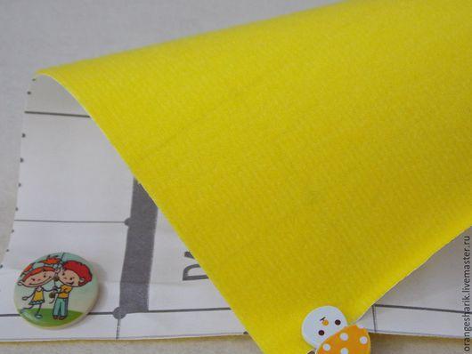 Шитье ручной работы. Ярмарка Мастеров - ручная работа. Купить Велкроткань Жёлтая. Handmade. Желтый, велкро, велкроткань, ковролинограф, фланелеграф