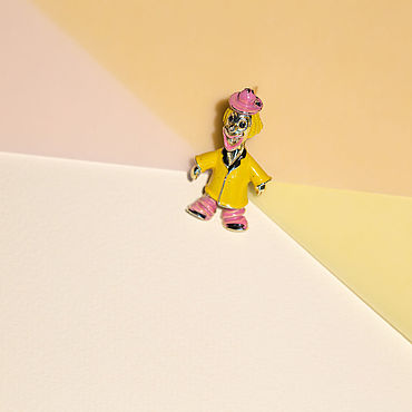 Винтаж ручной работы. Ярмарка Мастеров - ручная работа Винтажная брошь Клоун Celebrity N.Y.. Handmade.