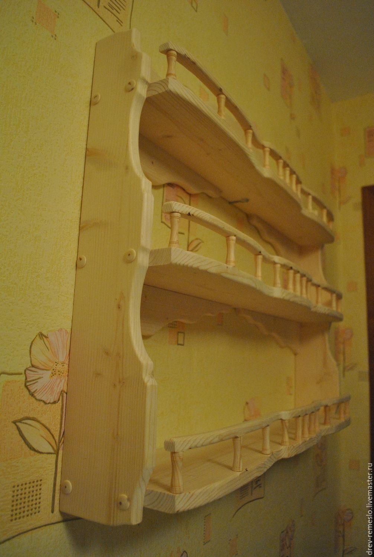 Полка из дерева фото для кухни 57